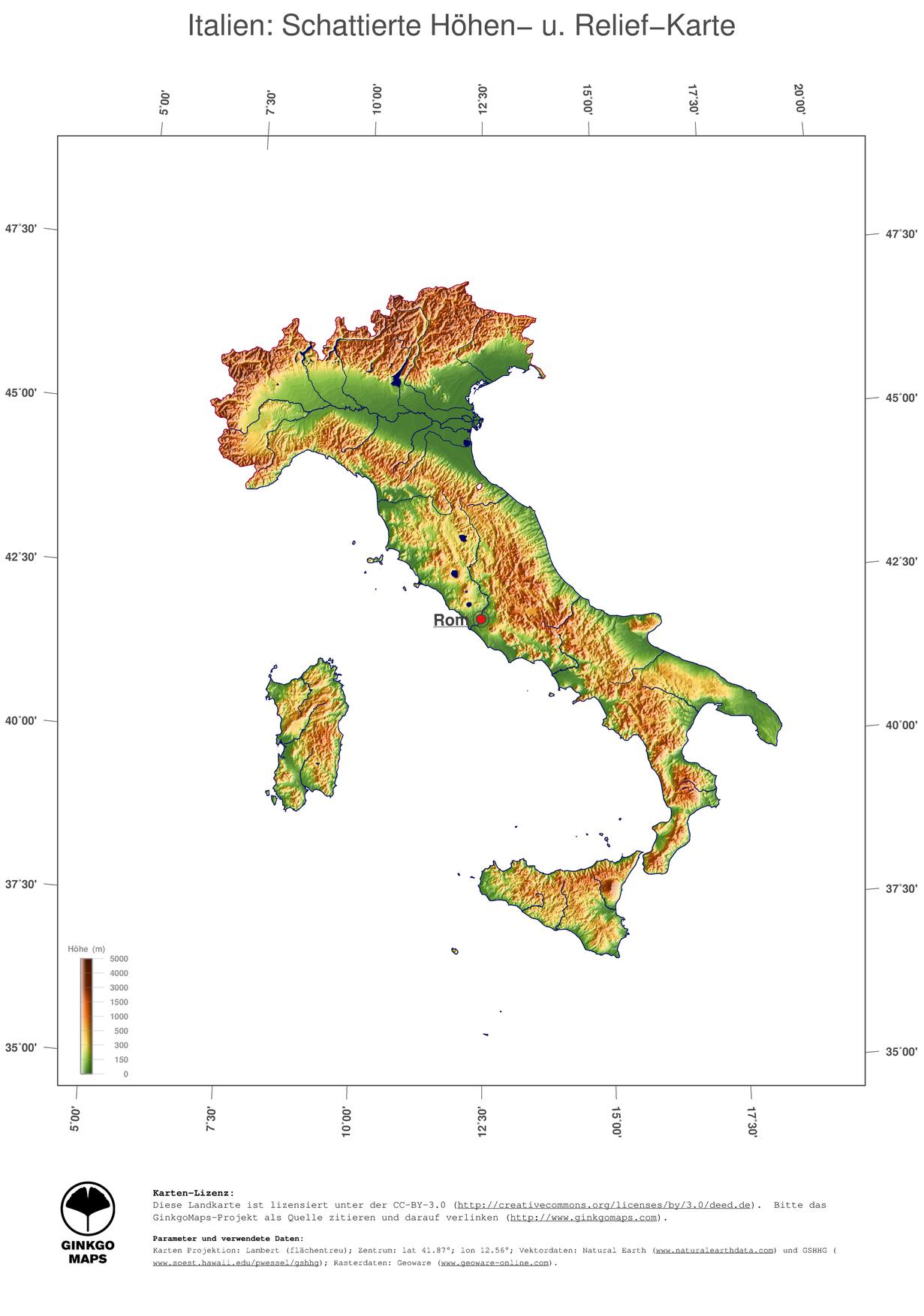 italien topographie