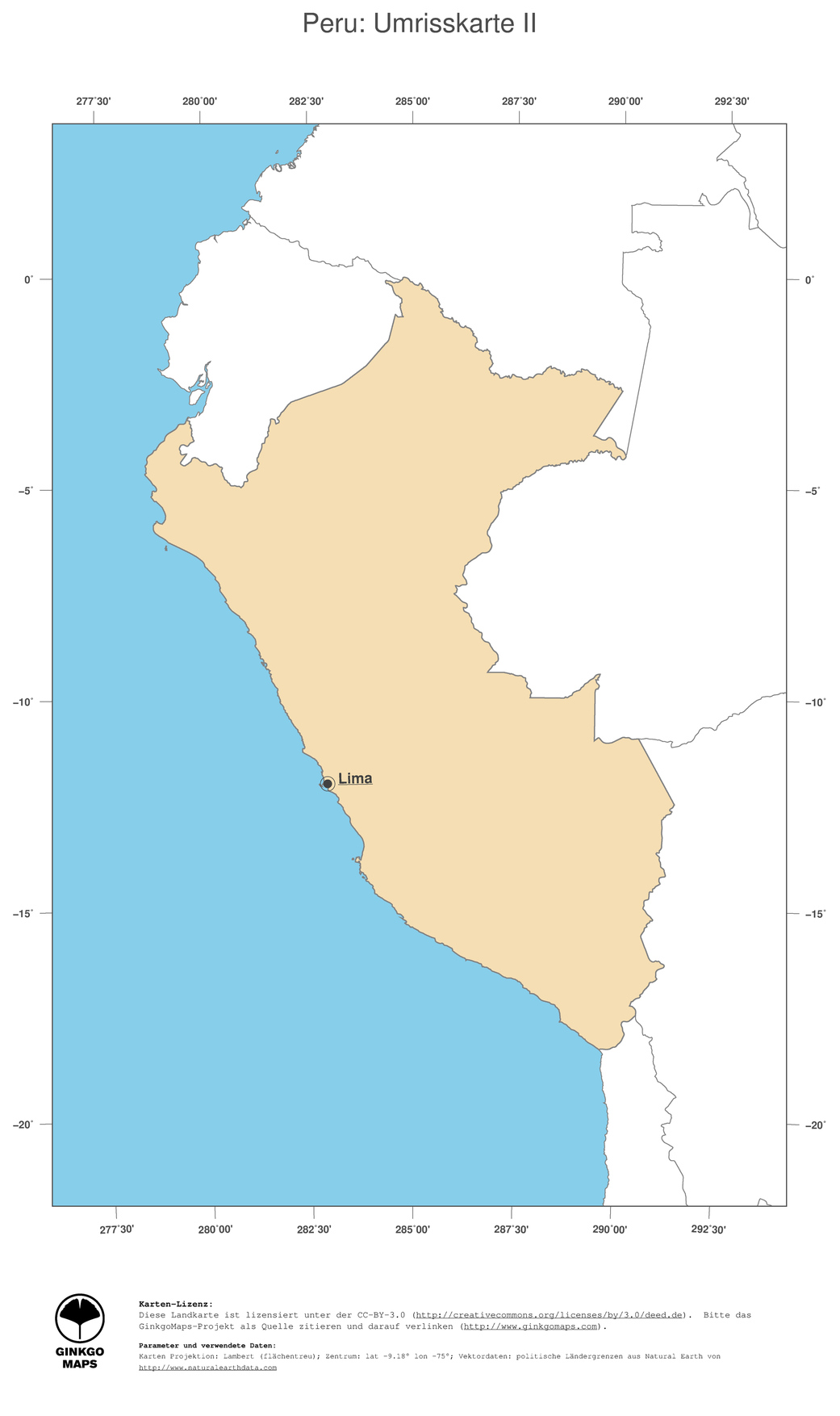 Peru Karte Südamerika.Landkarte Peru Ginkgomaps Landkarten Sammlung Kontinent Südamerika