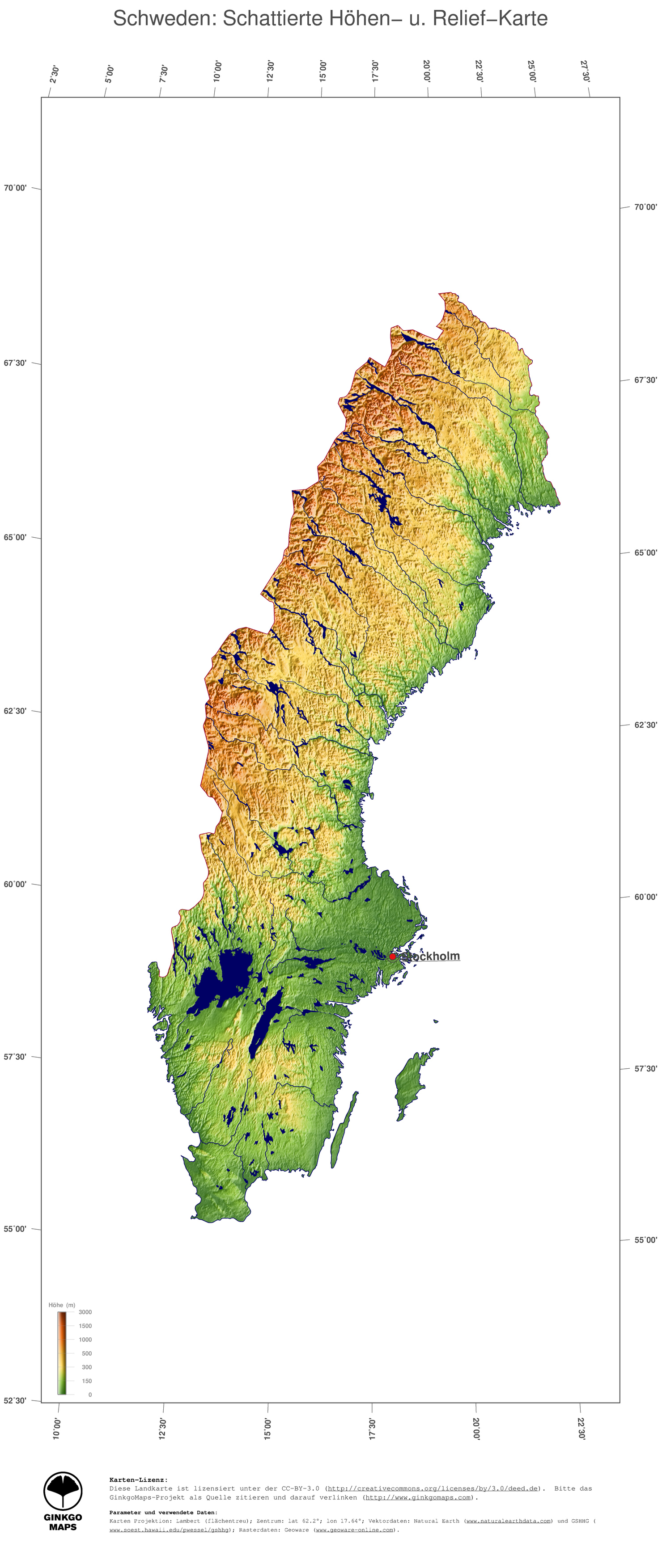 Skandinavien Karte Pdf.Landkarte Schweden Ginkgomaps Landkarten Sammlung Kontinent
