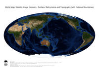 #17 Map World: Surface, Bathymetrie and Topography (with National Boundaries)
