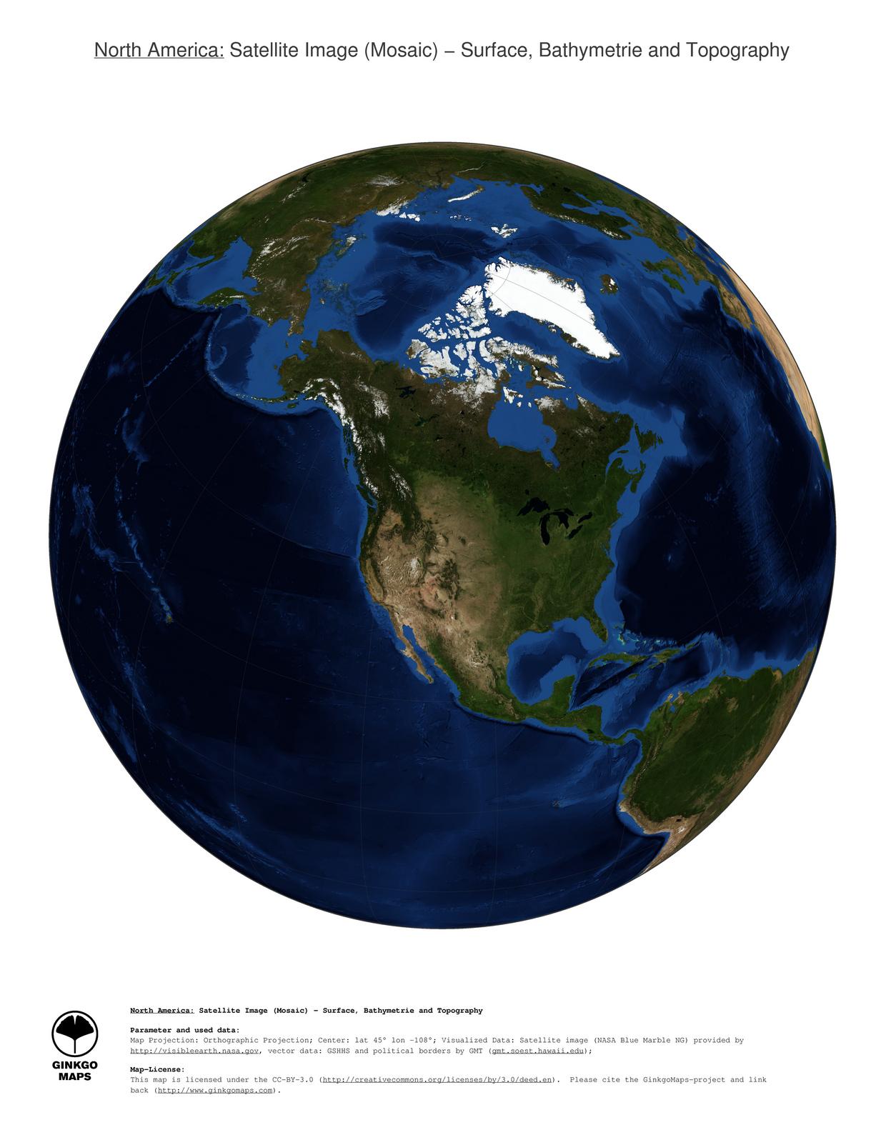 Map North America GinkgoMaps continent North America region