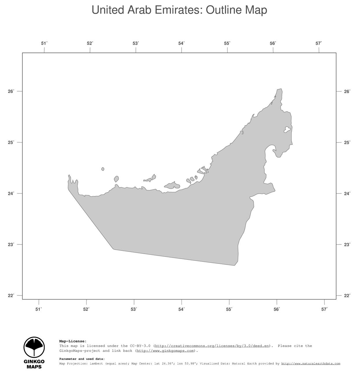 Map United Arab Emirates GinkgoMaps continent Asia region – Map of United Arab Emirates