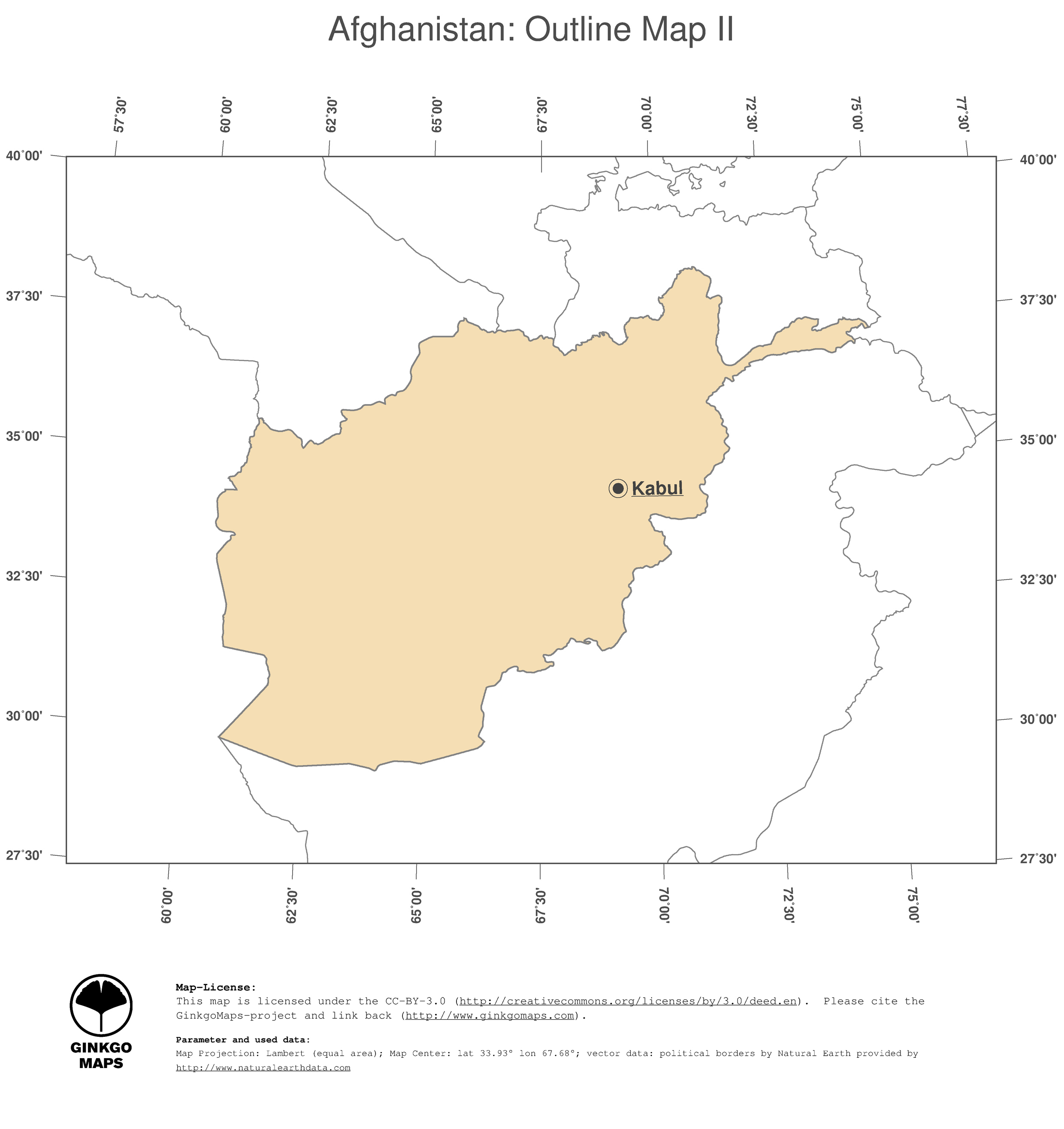 Map Afghanistan GinkgoMaps Continent Asia Region Afghanistan - What continent is afghanistan in