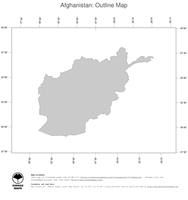#1 Map Afghanistan: political country borders (outline map)