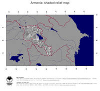 #4 Map Armenia: shaded relief, country borders and capital
