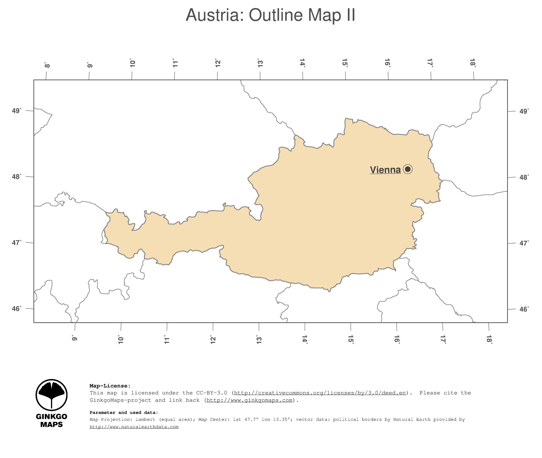 Map Austria GinkgoMaps Continent Europe Region Austria - Political map austria