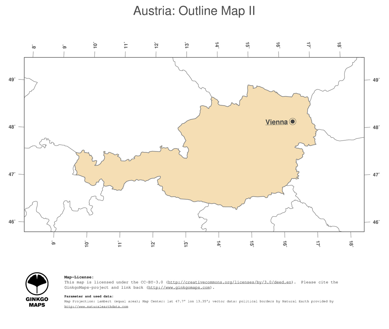 Map Austria GinkgoMaps Continent Europe Region Austria - Austria political map