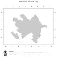 #1 Map Azerbaijan: political country borders (outline map)