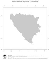 #1 Map Bosnia and Herzegovina: political country borders (outline map)