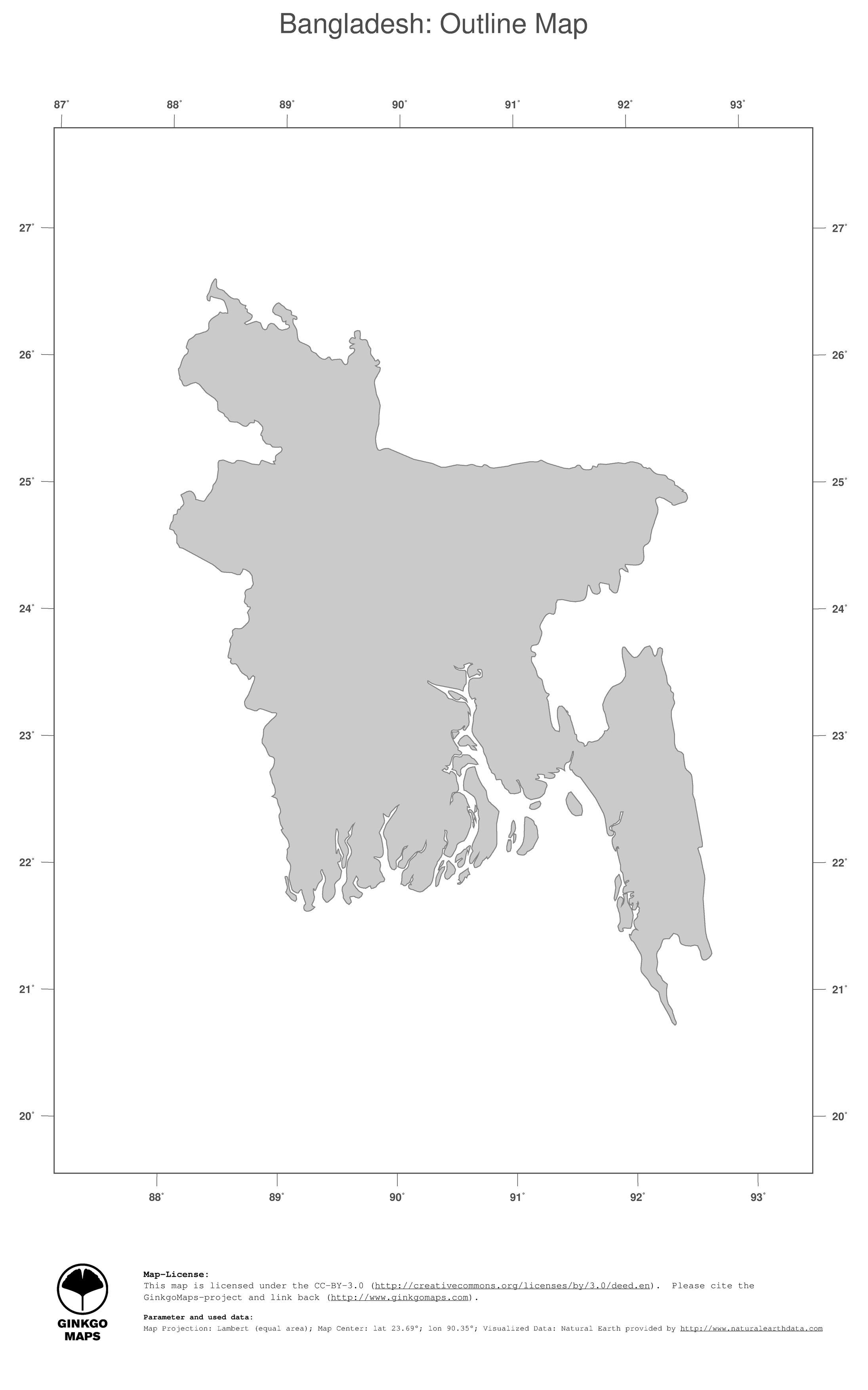 Bangladesh On Map Of Asia.Map Bangladesh Ginkgomaps Continent Asia Region Bangladesh