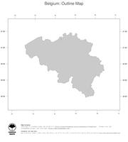 #1 Map Belgium: political country borders (outline map)