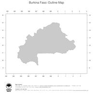 #1 Map Burkina Faso: political country borders (outline map)