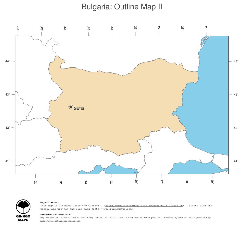 map bulgaria ginkgomaps continent europe region bulgaria