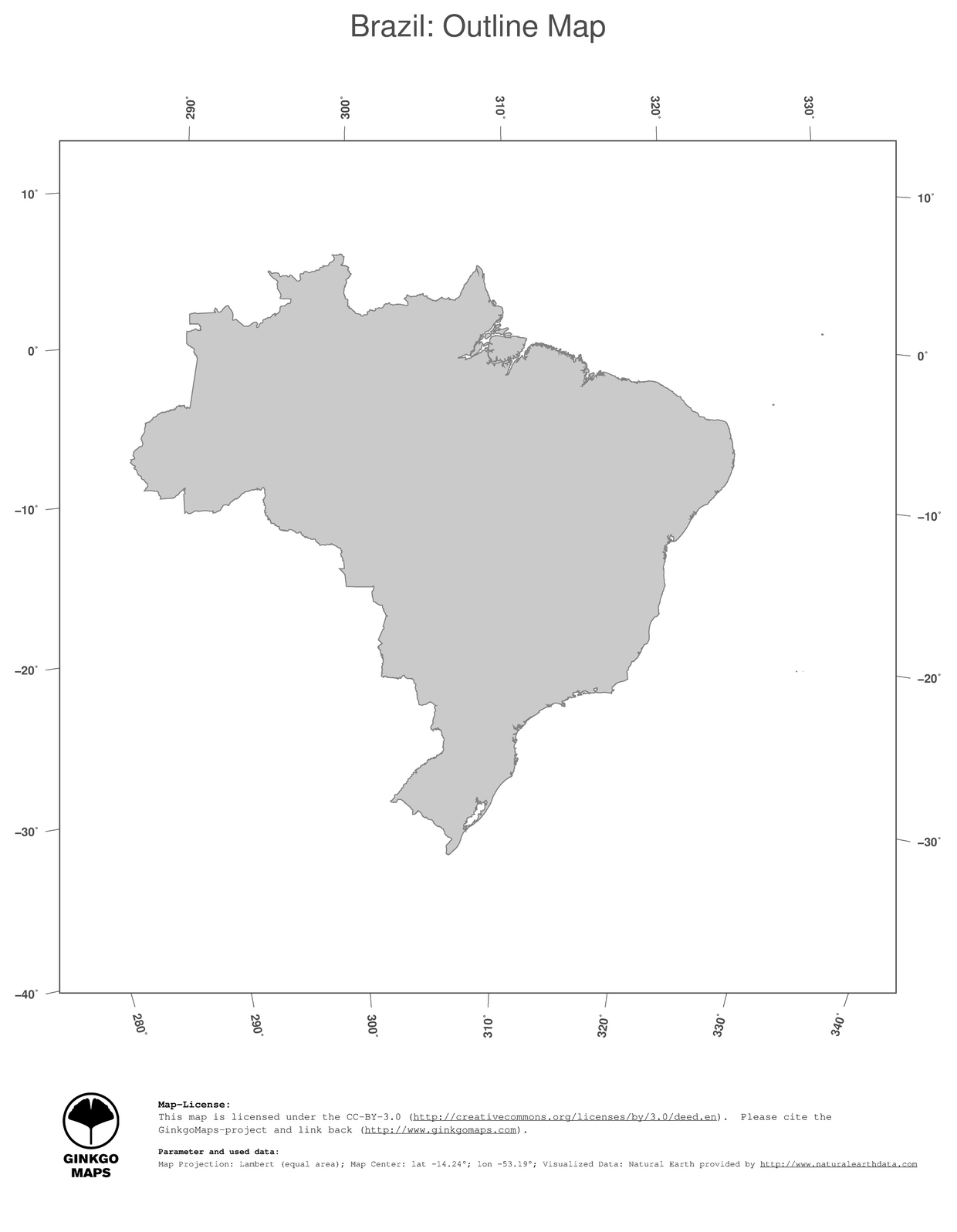 Picture of: Map Brazil Ginkgomaps Continent South America Region Brazil