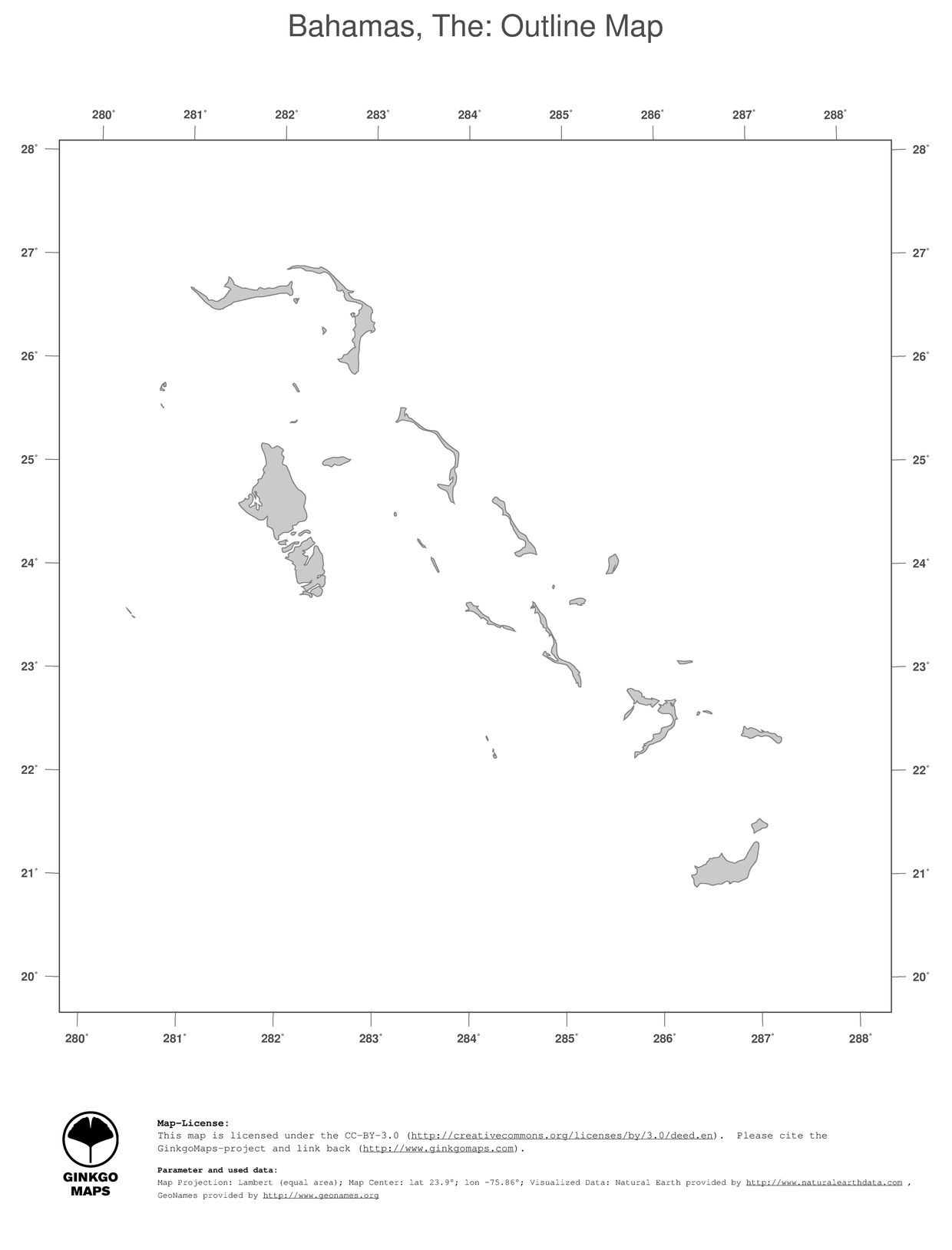 Map Bahamas The GinkgoMaps continent South America region