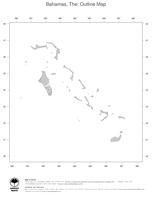 #1 Map Bahamas: political country borders (outline map)