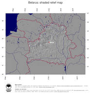 #4 Map Belarus: shaded relief, country borders and capital