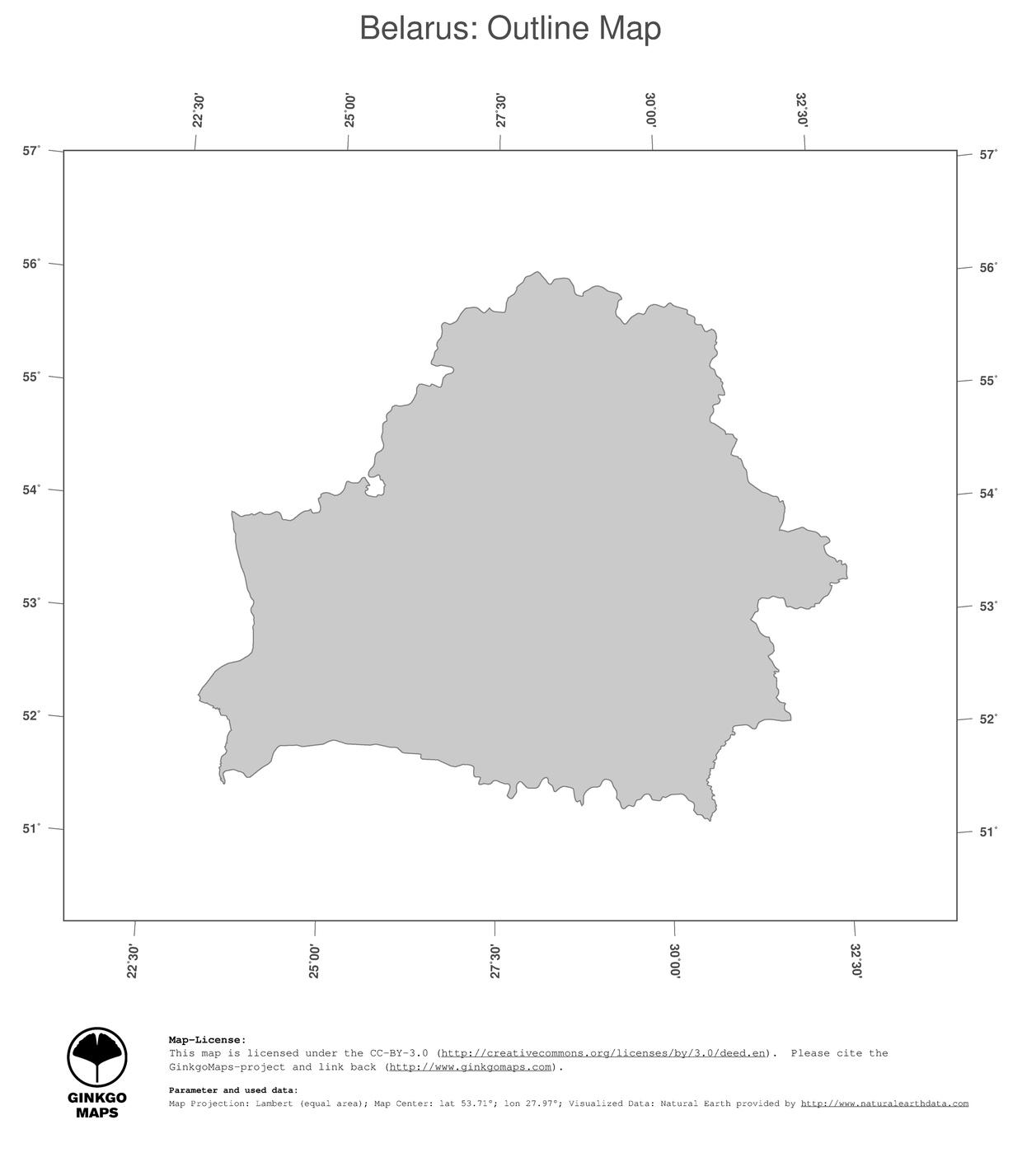 Map Belarus GinkgoMaps continent Europe region Belarus
