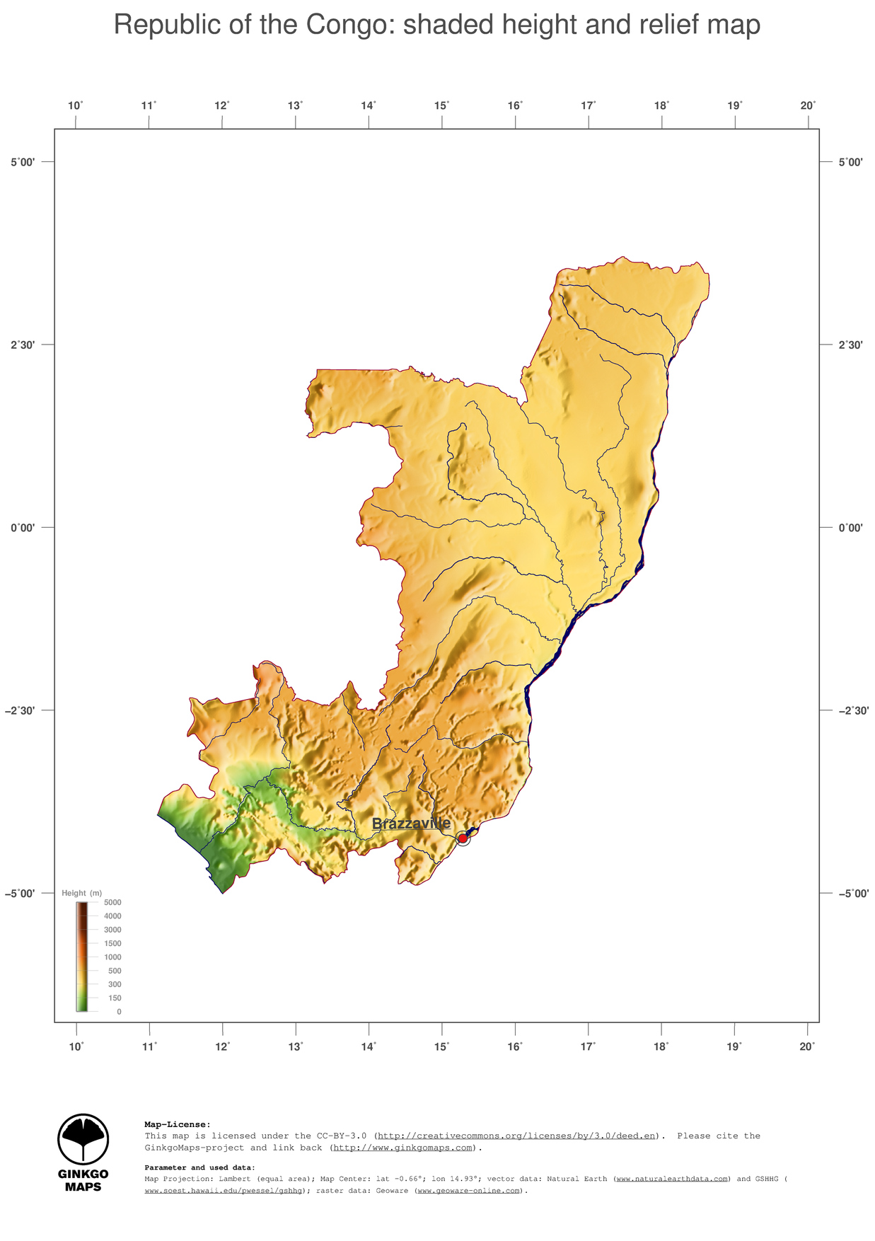 Map Congo, Republic of the; GinkgoMaps continent: Africa; region ...