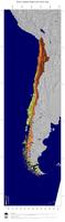 #4 Map Chile: color-coded topography, shaded relief, country borders and capital
