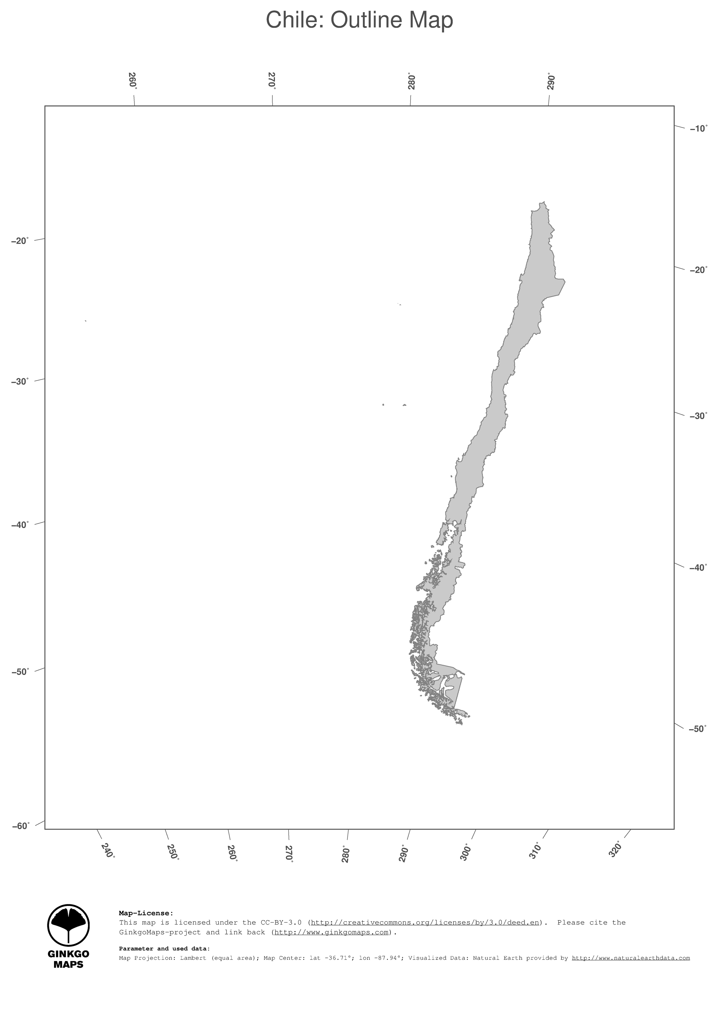 Map Chile GinkgoMaps Continent South America Region Chile - South america map outline