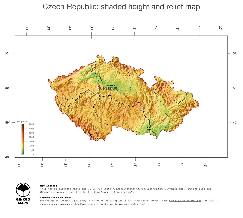 Map Czech Republic GinkgoMaps Continent Europe Region Czech - Czech republic map
