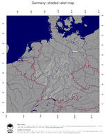 #4 Map Germany: shaded relief, country borders and capital