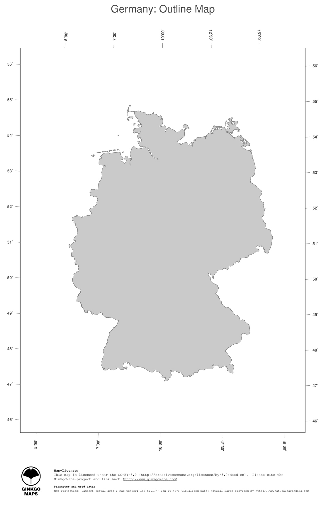 1 map germany political country borders outline map