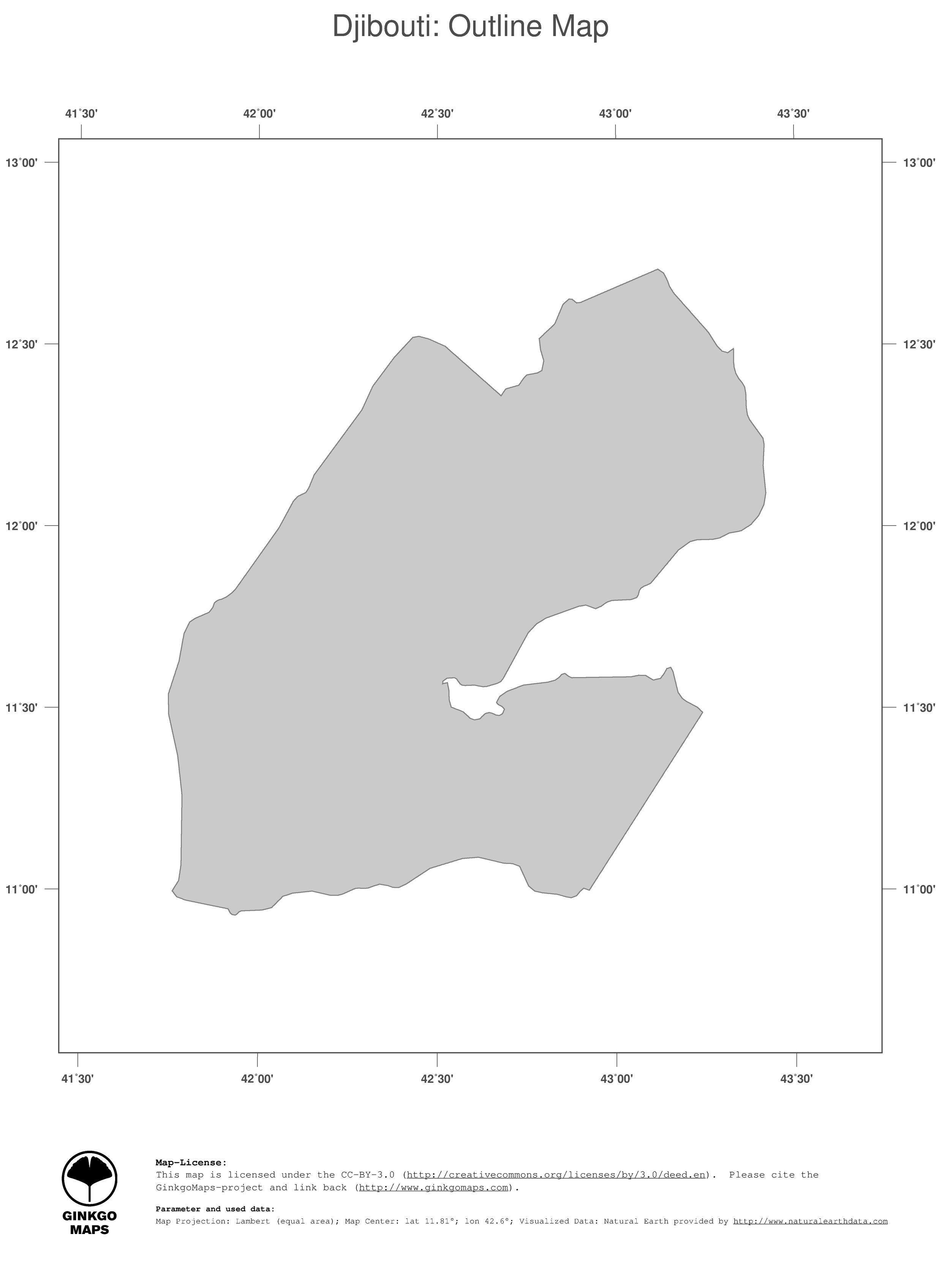 Map Djibouti GinkgoMaps Continent Africa Region Djibouti - Djibouti maps with countries