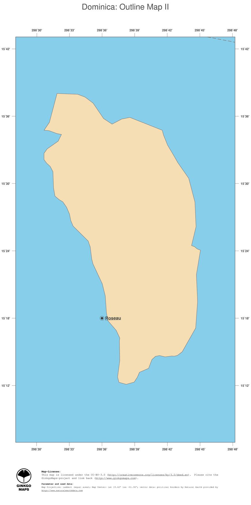 Map Dominica GinkgoMaps Continent South America Region Dominica - Dominica political map