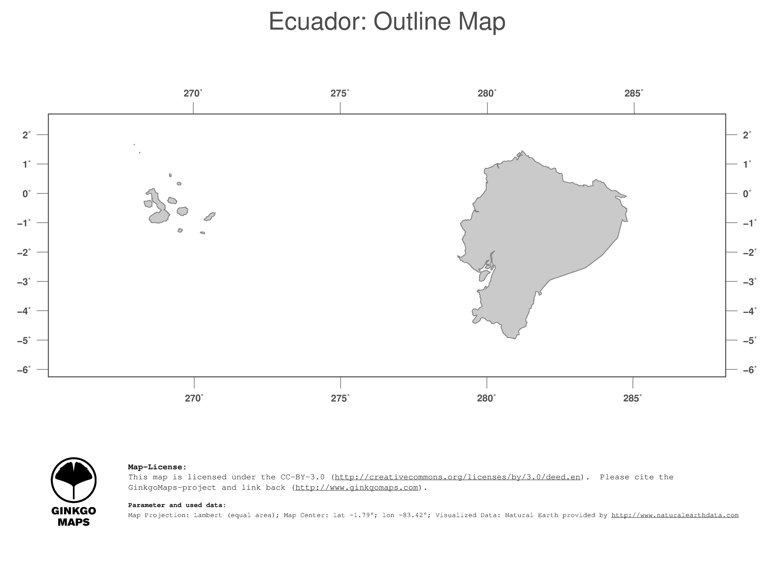 Map Ecuador GinkgoMaps Continent South America Region Ecuador - Ecuador south america map