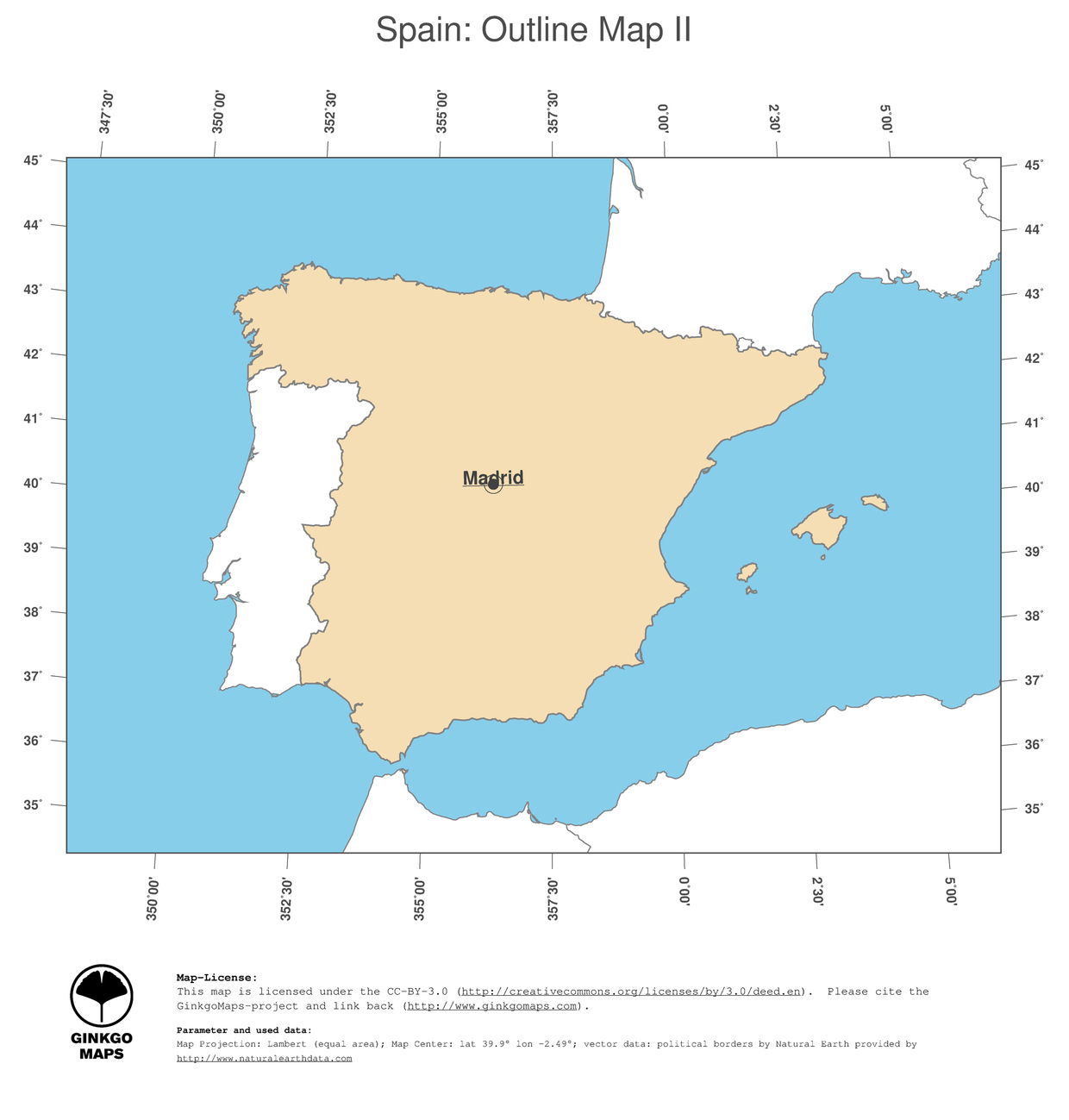 Map Of Spain And Europe.Map Of Spain Europe