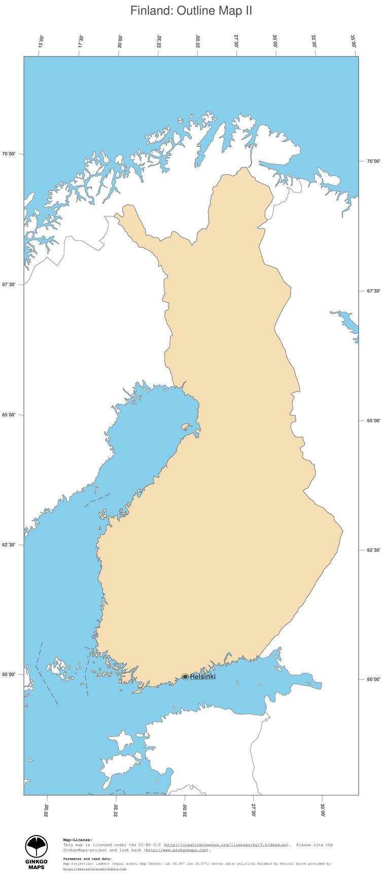Map Finland GinkgoMaps continent Europe region Finland