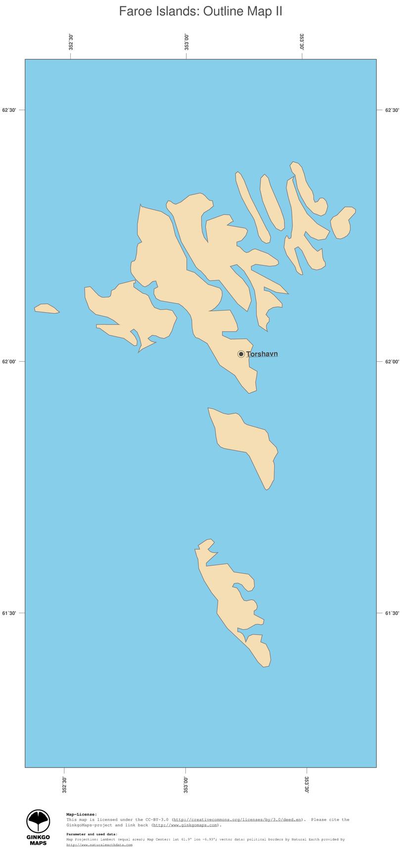 Map Faroe Islands; GinkgoMaps continent: Europe; region ...