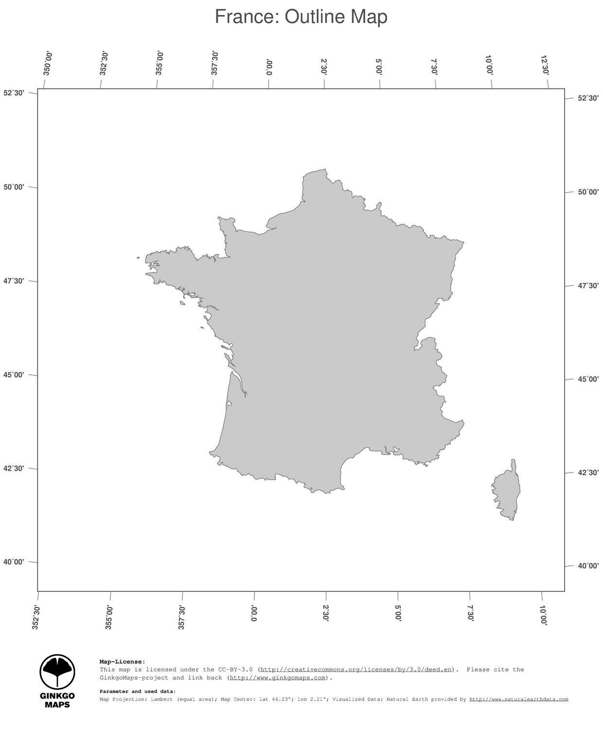Image of: Map France Ginkgomaps Continent Europe Region France