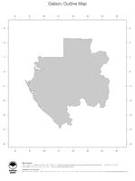 #1 Map Gabon: political country borders (outline map)