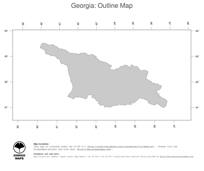 Map Georgia GinkgoMaps Continent Asia Region Georgia - Georgia map please