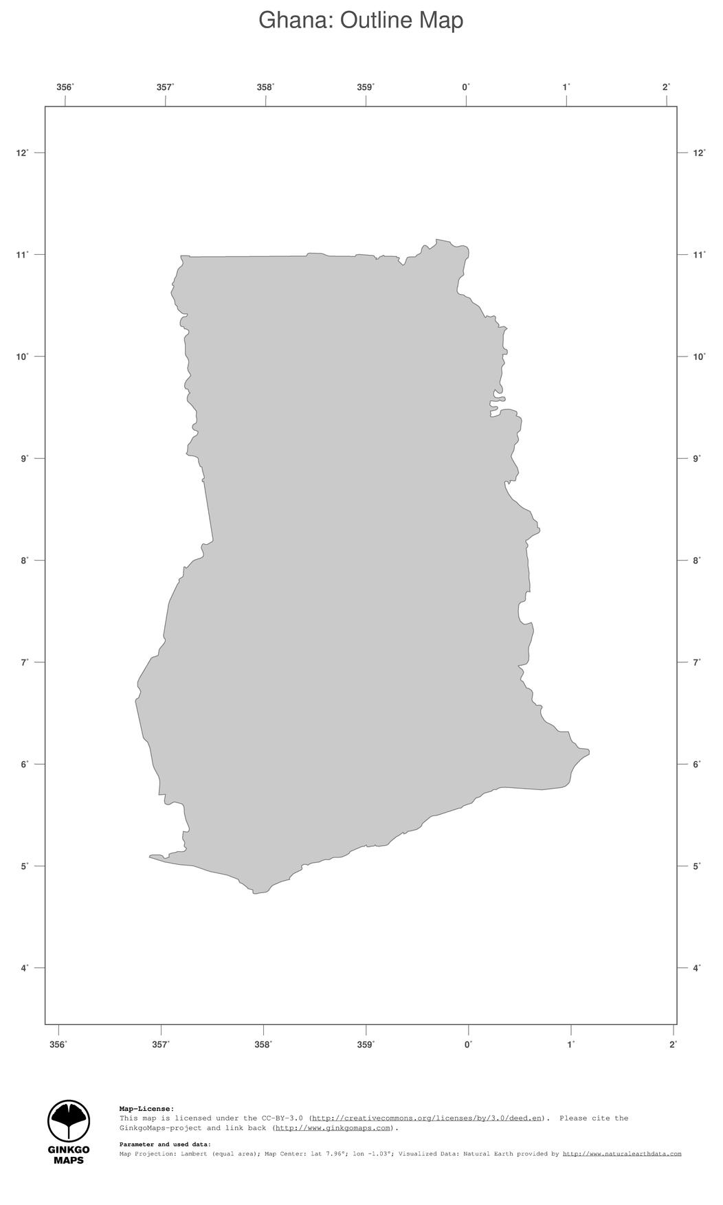 Map Ghana Ginkgomaps Continent Africa Region Ghana