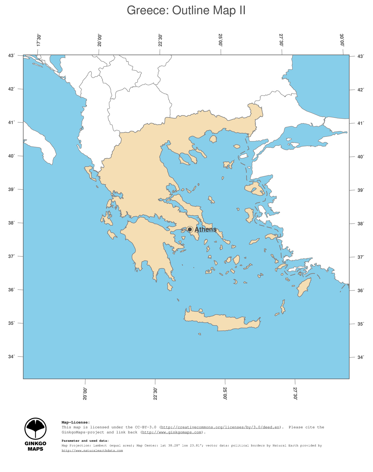 Country Of Greece Map.Map Greece Ginkgomaps Continent Europe Region Greece
