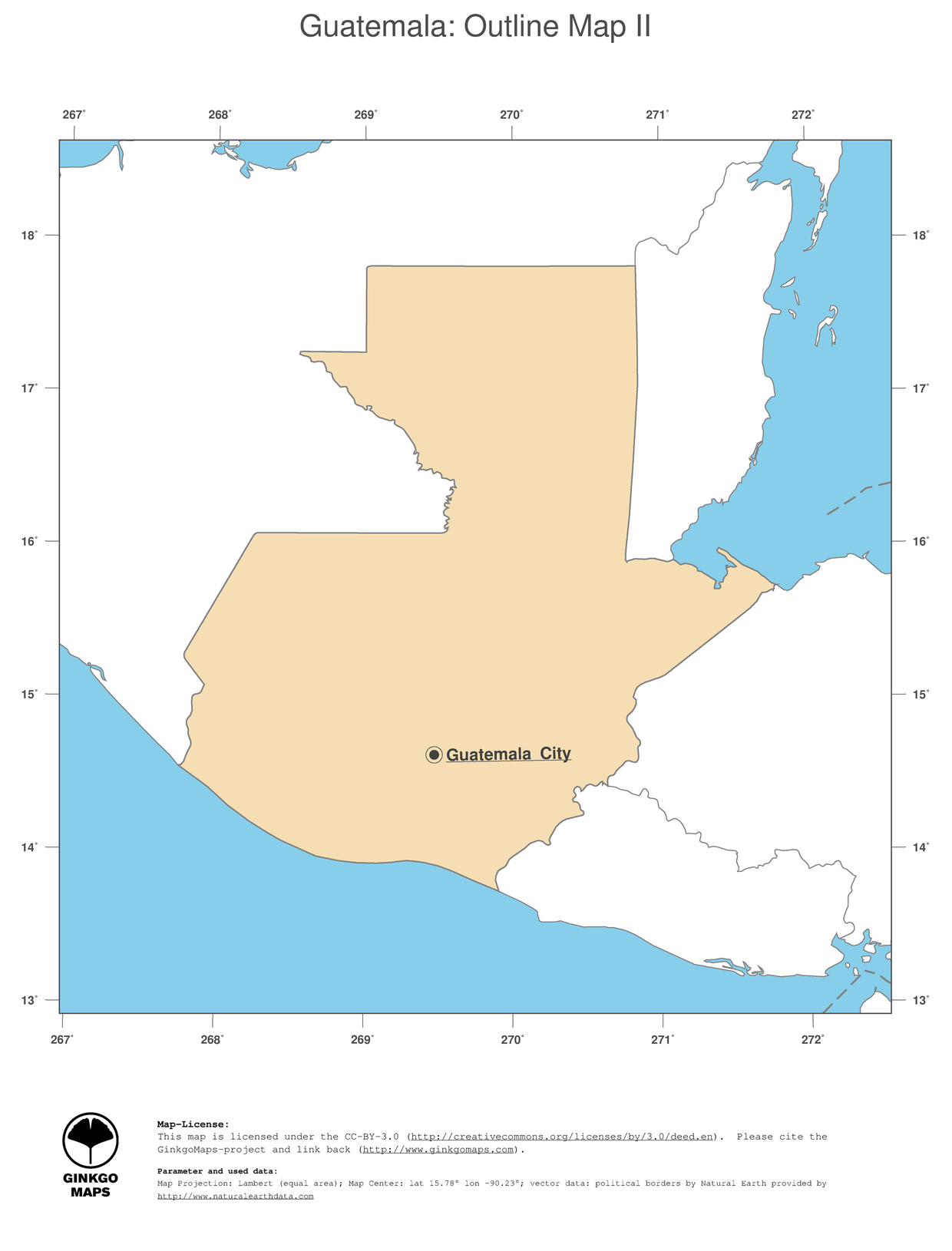 Map Guatemala GinkgoMaps Continent South America Region Guatemala - Maps of south america with capitals and countries