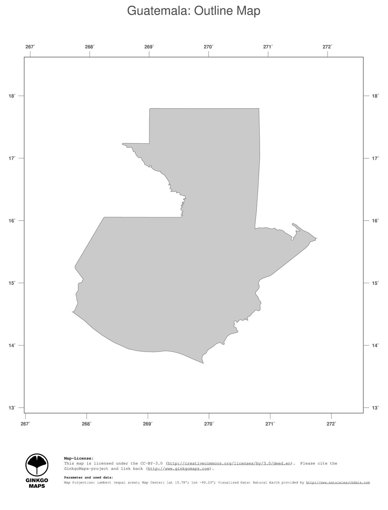 Picture of: Map Guatemala Ginkgomaps Continent South America Region Guatemala
