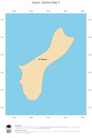 #2 Map Guam: political country borders and capital (outline map)