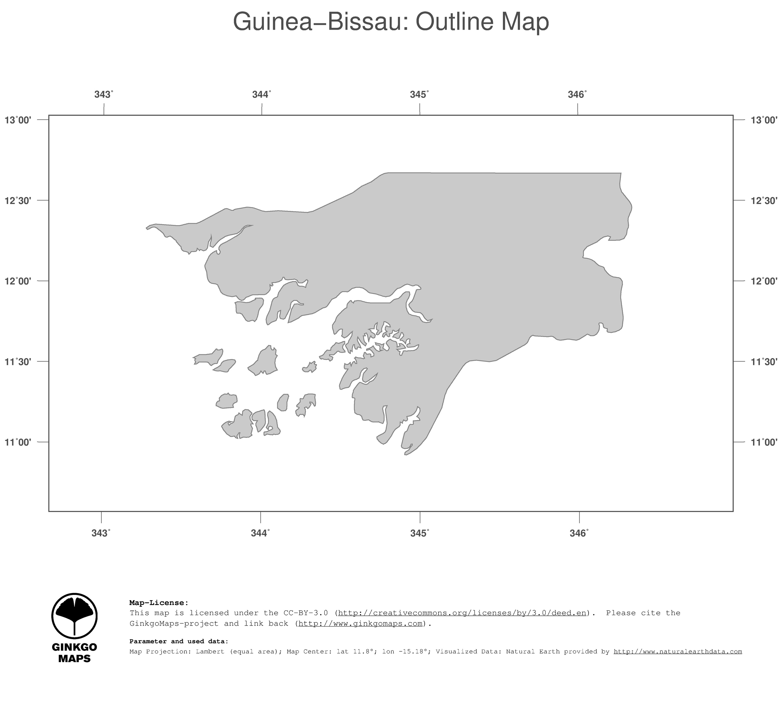 Map GuineaBissau GinkgoMaps continent Africa region GuineaBissau