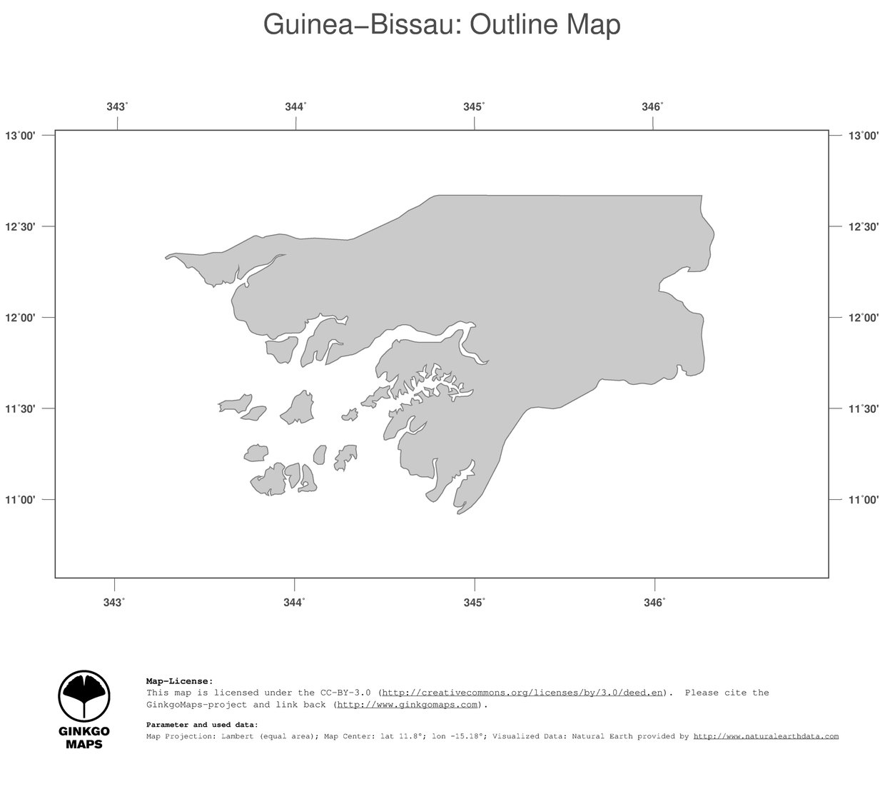 Map GuineaBissau GinkgoMaps Continent Africa Region GuineaBissau - Guinea bissau map