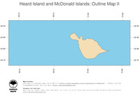 #2 Map Heard Island and McDonald Islands: political country borders and capital (outline map)