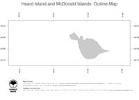 #1 Map Heard Island and McDonald Islands: political country borders (outline map)
