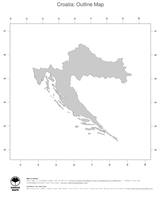 #1 Map Croatia: political country borders (outline map)