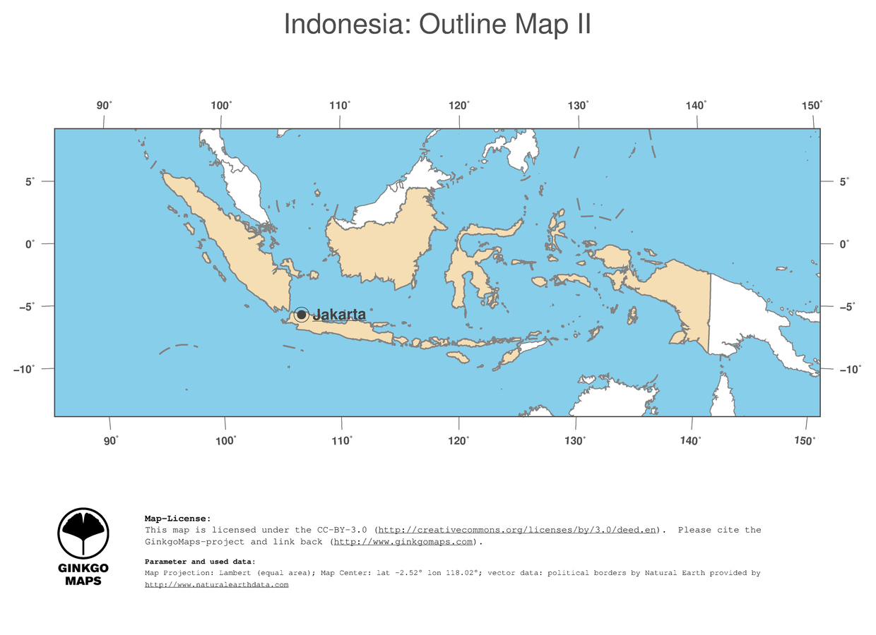Map Indonesia GinkgoMaps continent Asia region Indonesia