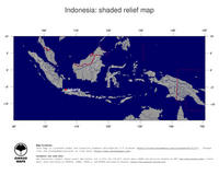 #4 Map Indonesia: shaded relief, country borders and capital