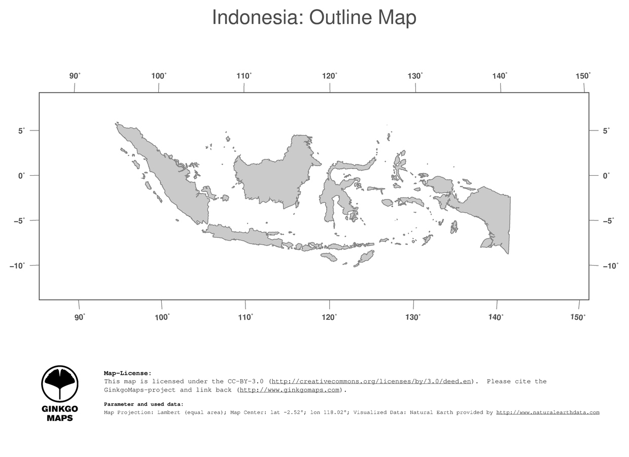 Map Indonesia GinkgoMaps Continent Asia Region Indonesia - Indonesia political map